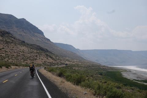 Lake Ebert and the road