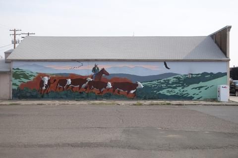 Cow mural