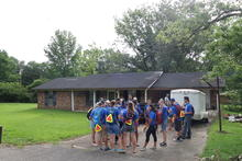 Group meeting at the day's start