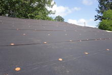 New tar paper on the roof