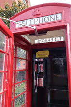 Old style phone booth.