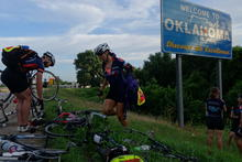 Crossing the state line into Oklahoma!