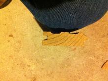 Profile of an oak floorboard