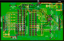 Old revision of PCB