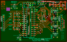 PCB layout for the breakout board