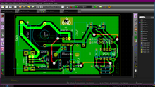 PCB layout for the power regulator